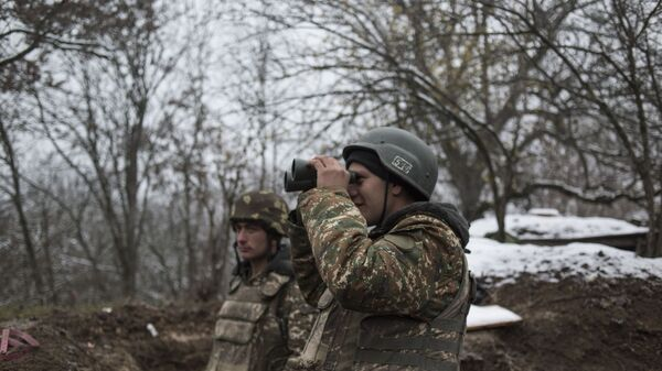 Militares en Nagorno Karabaj - Sputnik Mundo