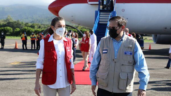 La reina de España, Letizia, arriba a Honduras - Sputnik Mundo
