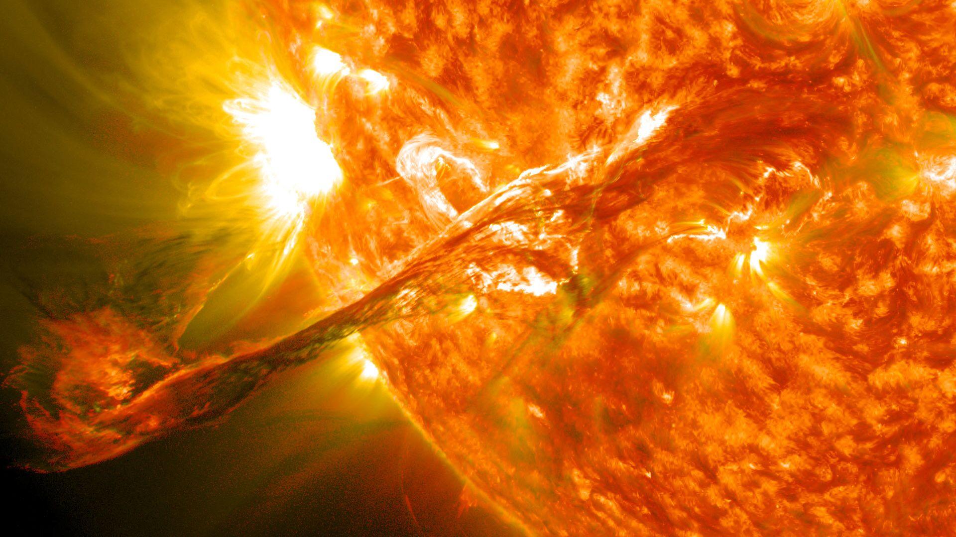 Eyección de masa coronal en el Sol (imagen referencial) - Sputnik Mundo, 1920, 14.05.2021