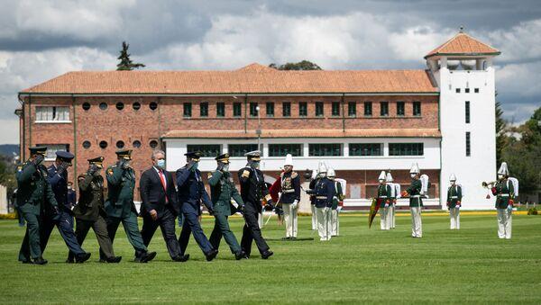 Presidente de Colombia, Iván Duque, en ceremonia de ascensos de oficiales del Ejército - Sputnik Mundo