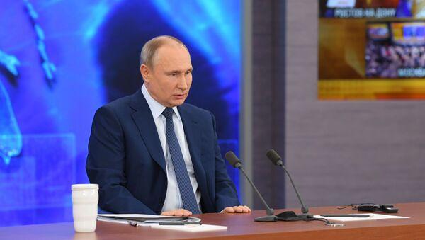 La gran rueda de prensa anual del presidente ruso, Vladímir Putin - Sputnik Mundo