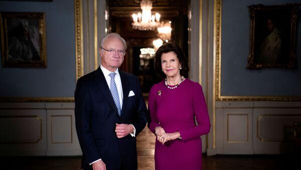 El rey de Suecia Carlos XVI Gustavo y la reina Silvia - Sputnik Mundo