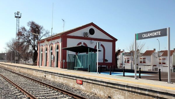 Estación de tren de Calamonte, localidad de Badajoz (España) - Sputnik Mundo