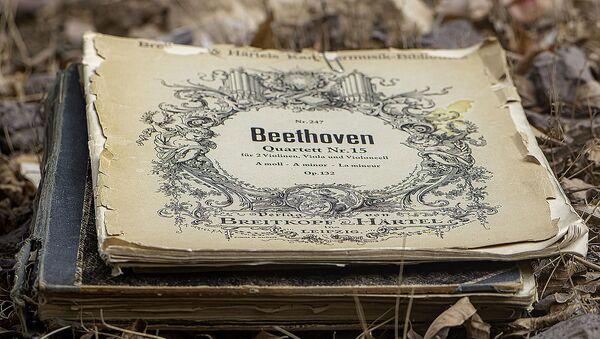 Una partitura del Cuarteto №15 de Ludwig van Beethoven - Sputnik Mundo