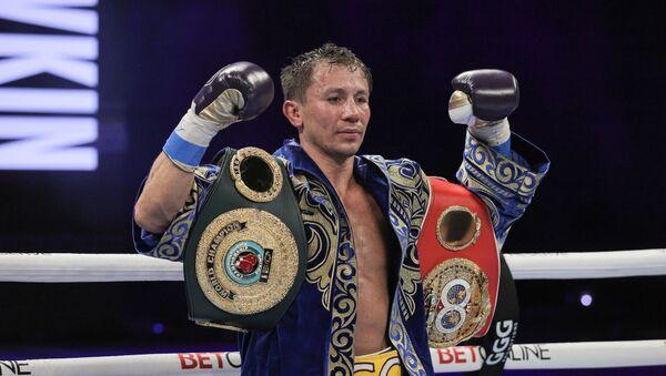 Gennady Golovkin, el boxeador kazajo tras la victoria contra Kamil Szeremeta  - Sputnik Mundo