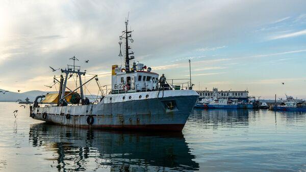 Un barco pesquero - Sputnik Mundo