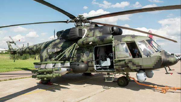 Un helicóptero de transporte y combate Mi-8AMTSh-VN - Sputnik Mundo