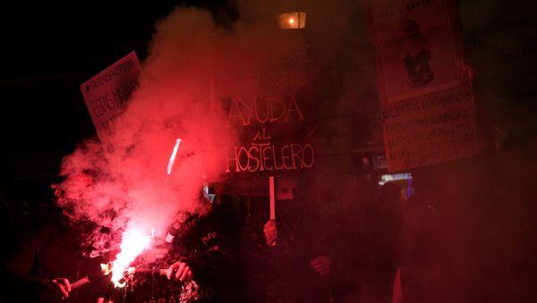 Manifestación de hosteleros en Barcelona el 21 de diciembre - Sputnik Mundo