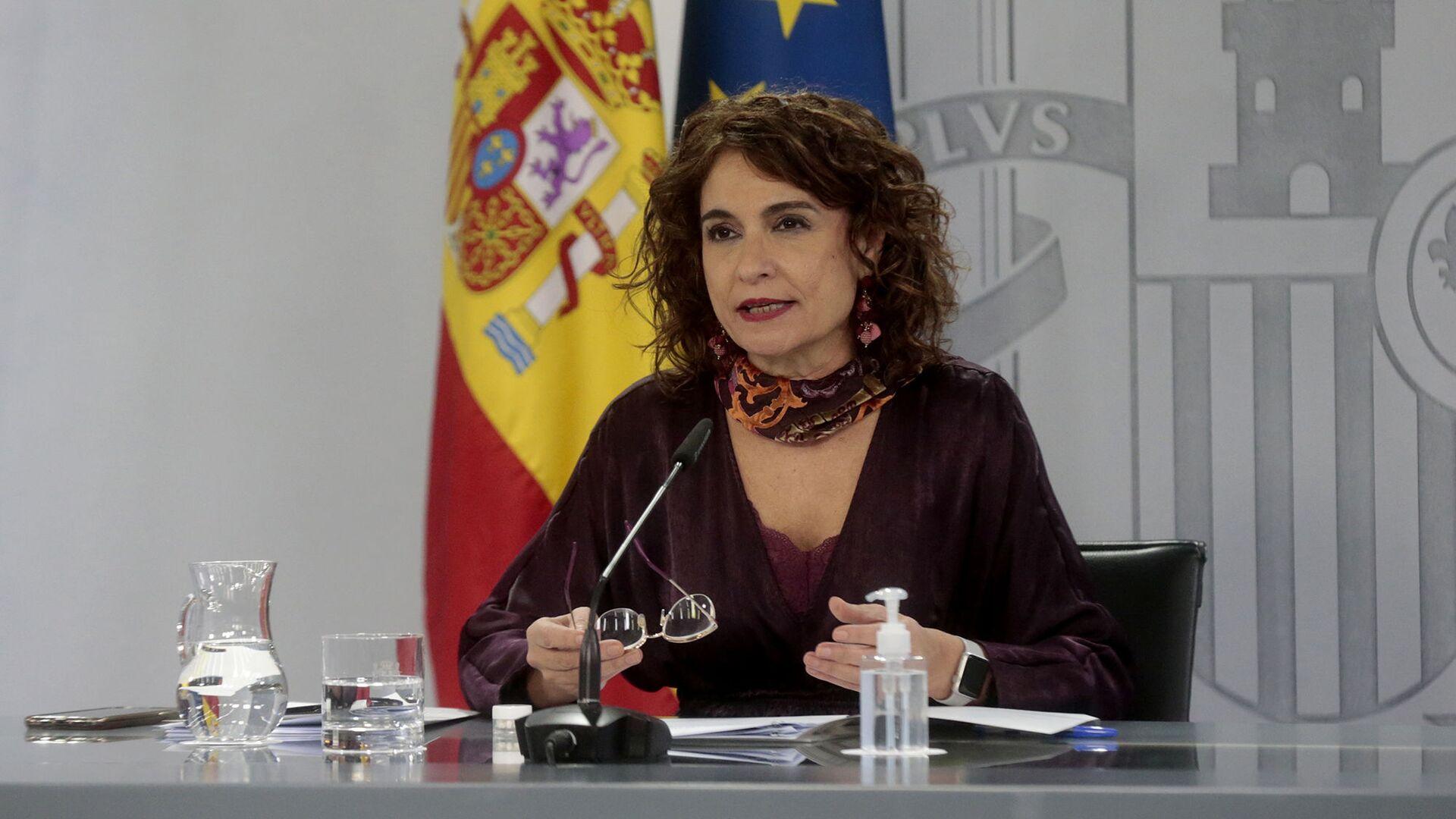 La ministra de Hacienda y portavoz del Gobierno, María Jesús Montero - Sputnik Mundo, 1920, 24.06.2021