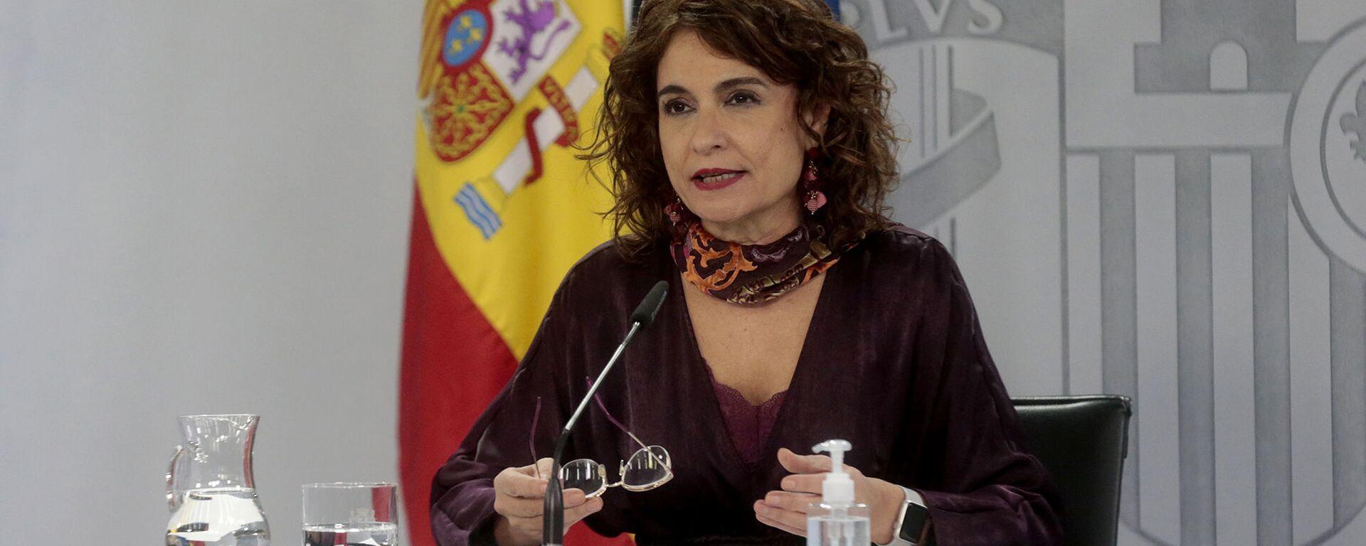 La ministra de Hacienda y portavoz del Gobierno, María Jesús Montero - Sputnik Mundo, 1920, 17.05.2021