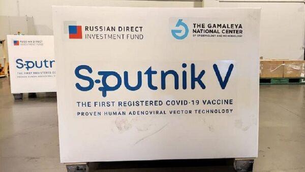 Las primeras 300.000 dosis de la vacuna Sputnik V se cargan en un avión de Aerolíneas Argentinas que llegó a Moscú - Sputnik Mundo