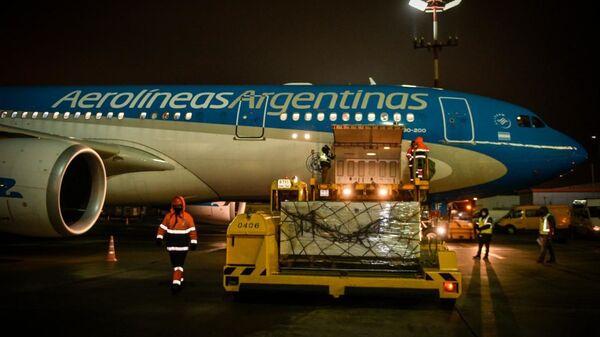 El avión que llevará a Argentina la vacuna Sputnik V - Sputnik Mundo