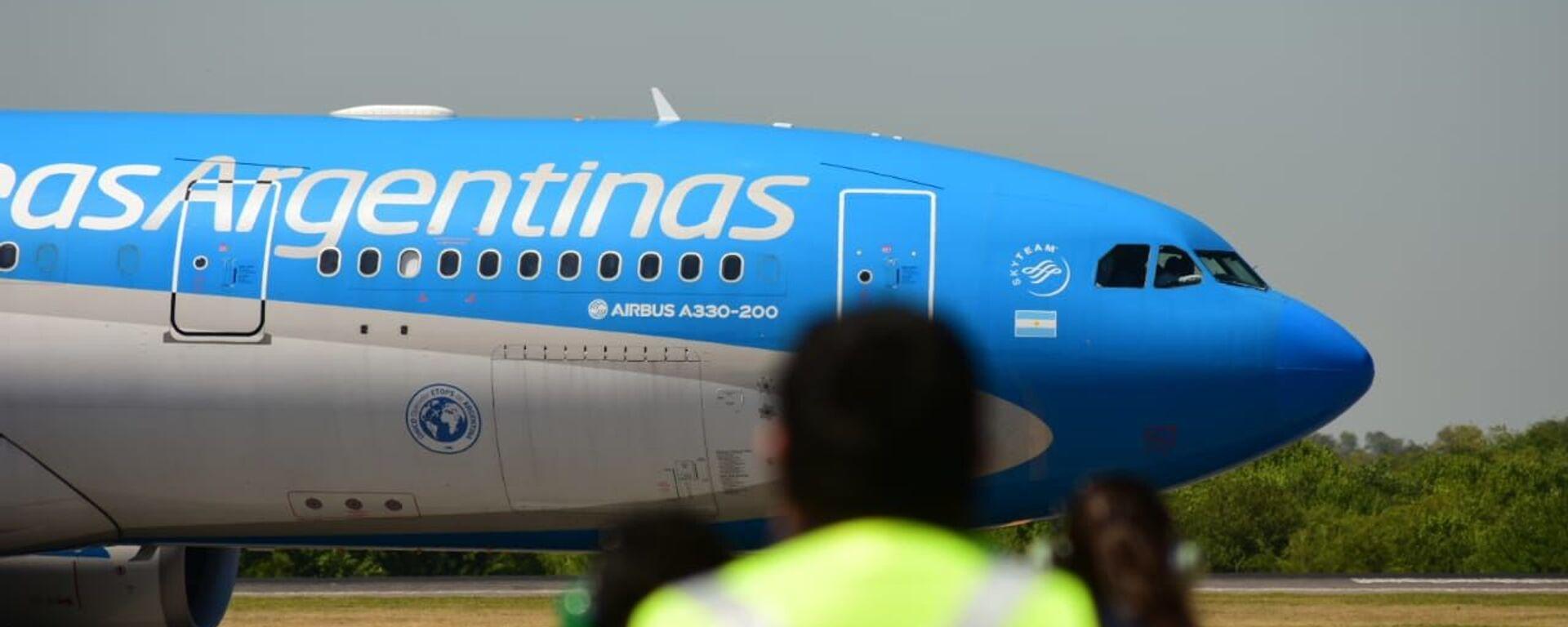 El avión con la vacuna rusa Sputnik V llega a Argentina - Sputnik Mundo, 1920, 24.08.2021