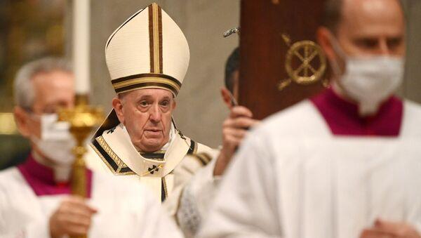 El Papa Francisco en el Vaticano - Sputnik Mundo