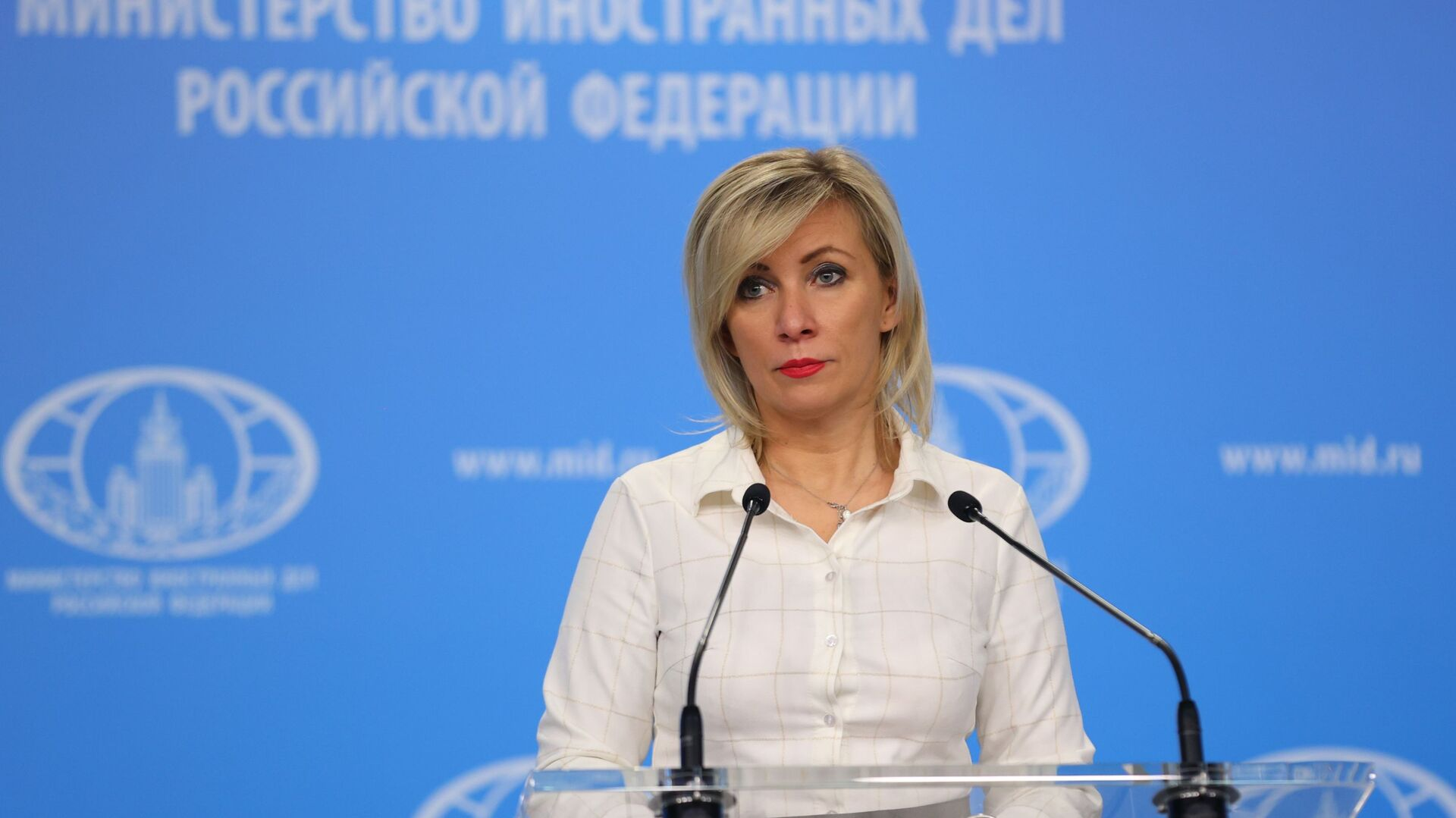 María Zajárova, portavoz del Ministério de Exteriores de Rusia - Sputnik Mundo, 1920, 12.03.2021