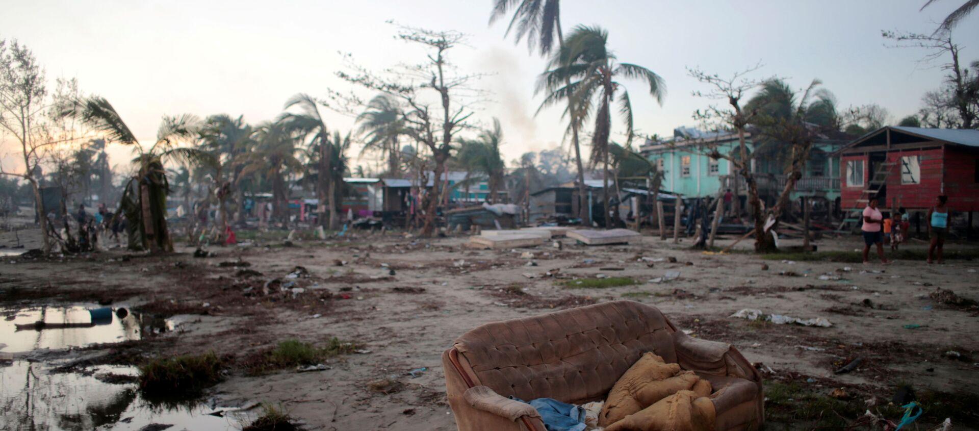 La ciudad de Bilwi, Nicaragua, tras el paso del huracán Iota - Sputnik Mundo, 1920, 26.12.2020
