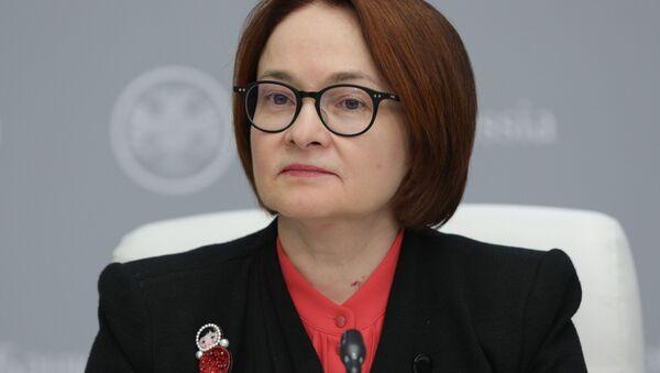 Elvira Nabiúlina, presidenta del Banco Central de Rusia - Sputnik Mundo