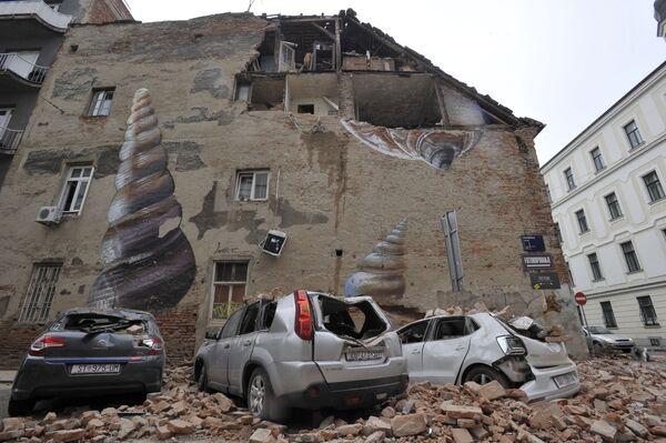 El 22 de marzo, Zagreb, la capital de Croacia, sufrió el terremoto más fuerte en 140 años, con una magnitud de 5,3 puntos en la escala de Richter. Como resultado del sismo, 17 personas resultaron heridas y muchos edificios en Zagreb fueron dañados. - Sputnik Mundo