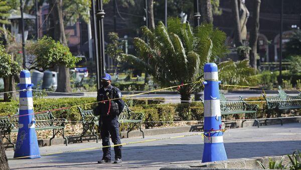 Un agente de Policía en México - Sputnik Mundo