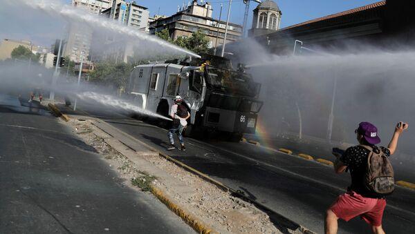 Protesta en Chile (archivo) - Sputnik Mundo