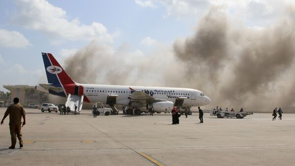 El ataque contra el aeropuerto de Adén - Sputnik Mundo