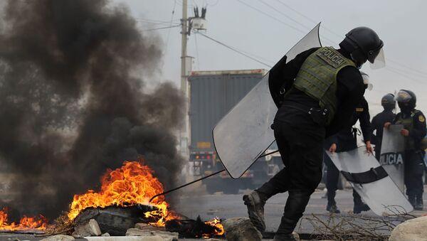 Protesta en Perú  - Sputnik Mundo