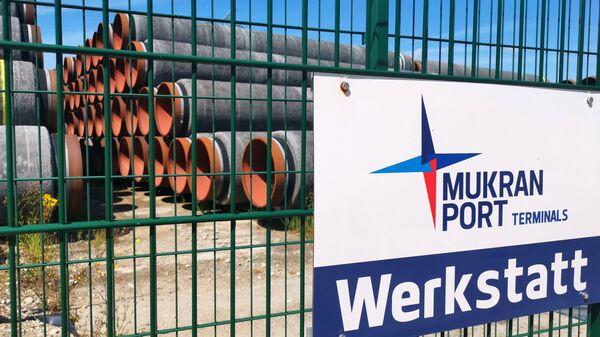 Tuberías en el puerto alemán de Mukran, el centro logístico de las obras del Nord Stream 2 - Sputnik Mundo