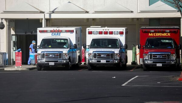 Ambulancias en Los Ángeles, California, EEUU (imagen referencial) - Sputnik Mundo