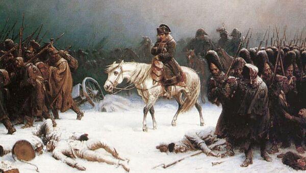 La pintura 'La retirada de Napoleón de Rusia' del artista alemán Adolph Northen - Sputnik Mundo