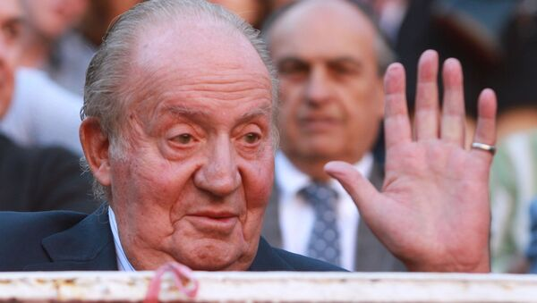 El rey emérito Juan Carlos I en una imagen de 2016, durante una corrida de toros de Madrid - Sputnik Mundo