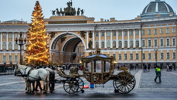 Un carruaje en San Petersburgo (imagen referencial) - Sputnik Mundo