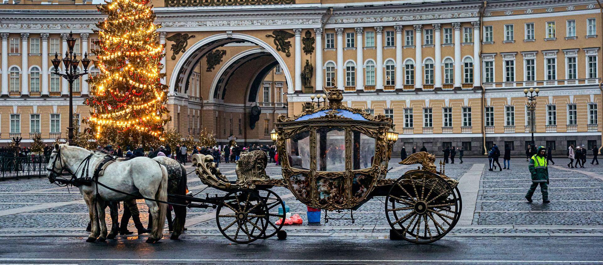 Un carruaje en San Petersburgo (imagen referencial) - Sputnik Mundo, 1920, 05.01.2021