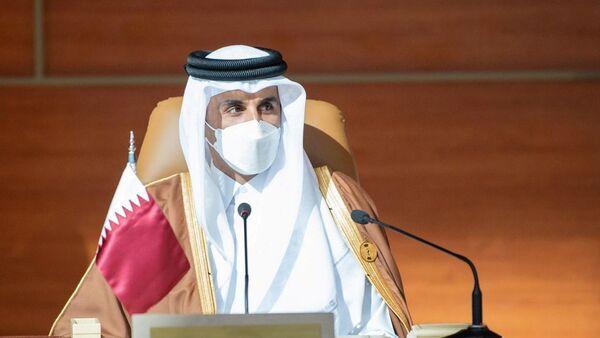 Tamim Hamad Thani, el emir de Catar en la cumbre del CCEAG en Arabia Saudí - Sputnik Mundo