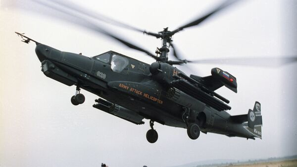 Helicóptero de ataque Ka-50 Tiburón Negro - Sputnik Mundo