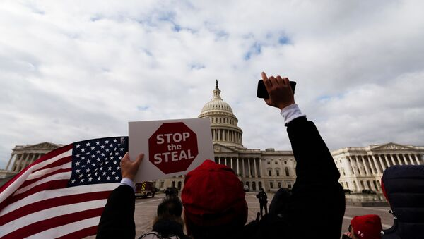 Protestas ante el Capitolio en Washington, EEUU - Sputnik Mundo
