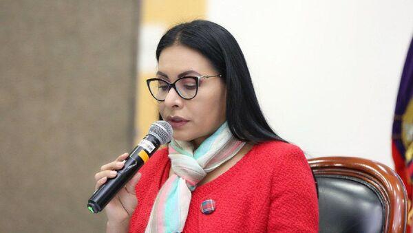 Diana Atamaint, presidenta del CNE de Ecuador - Sputnik Mundo