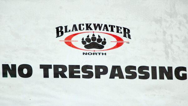 Logo de la empresa militar privada Blackwater - Sputnik Mundo