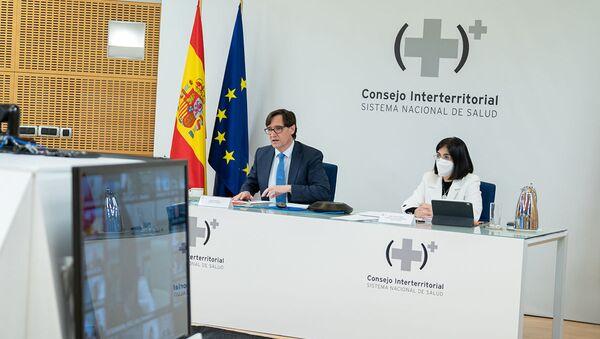 Salvador Illa y Carolina Darias en la reunión del Consejo Interterritorial del Sistema Nacional de Salud - Sputnik Mundo