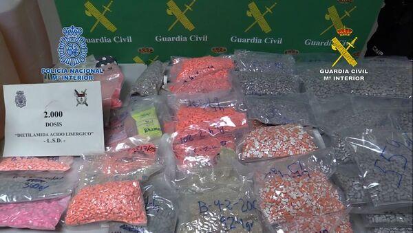 Droga incautada por los agentes en España - Sputnik Mundo