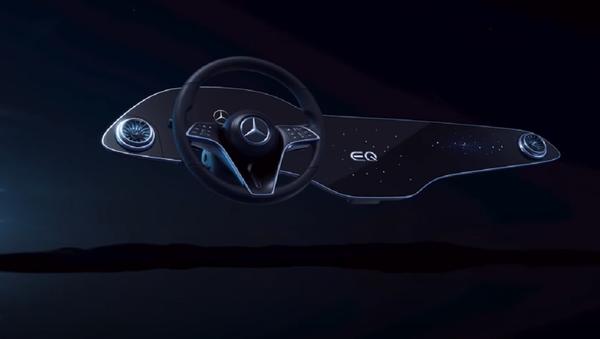 Un panel interactivo del Mercedes EQS - Sputnik Mundo
