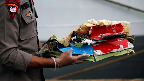 Restos del avión de Sriwijaya Air siniestrado en Indonesia - Sputnik Mundo