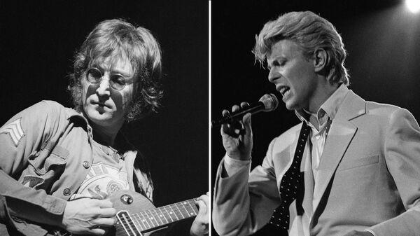 John Lennon y David Bowie, músicos británicos - Sputnik Mundo