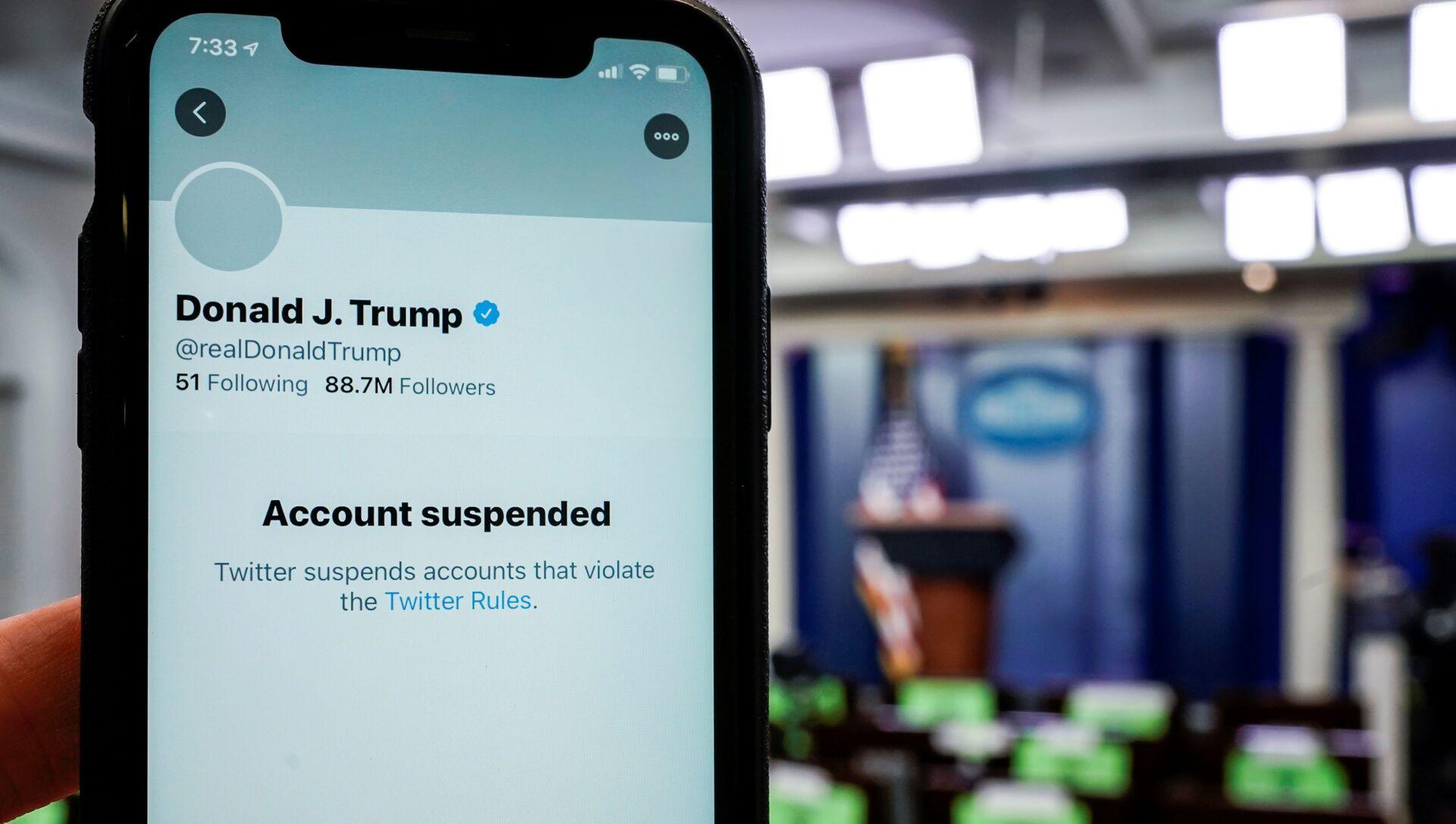 La cuenta de Donald Trump en Twitter - Sputnik Mundo, 1920, 22.01.2021