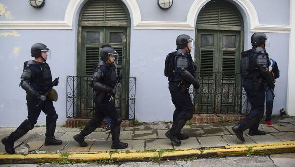 Policía en San Juan, Puerto Rico (archivo) - Sputnik Mundo
