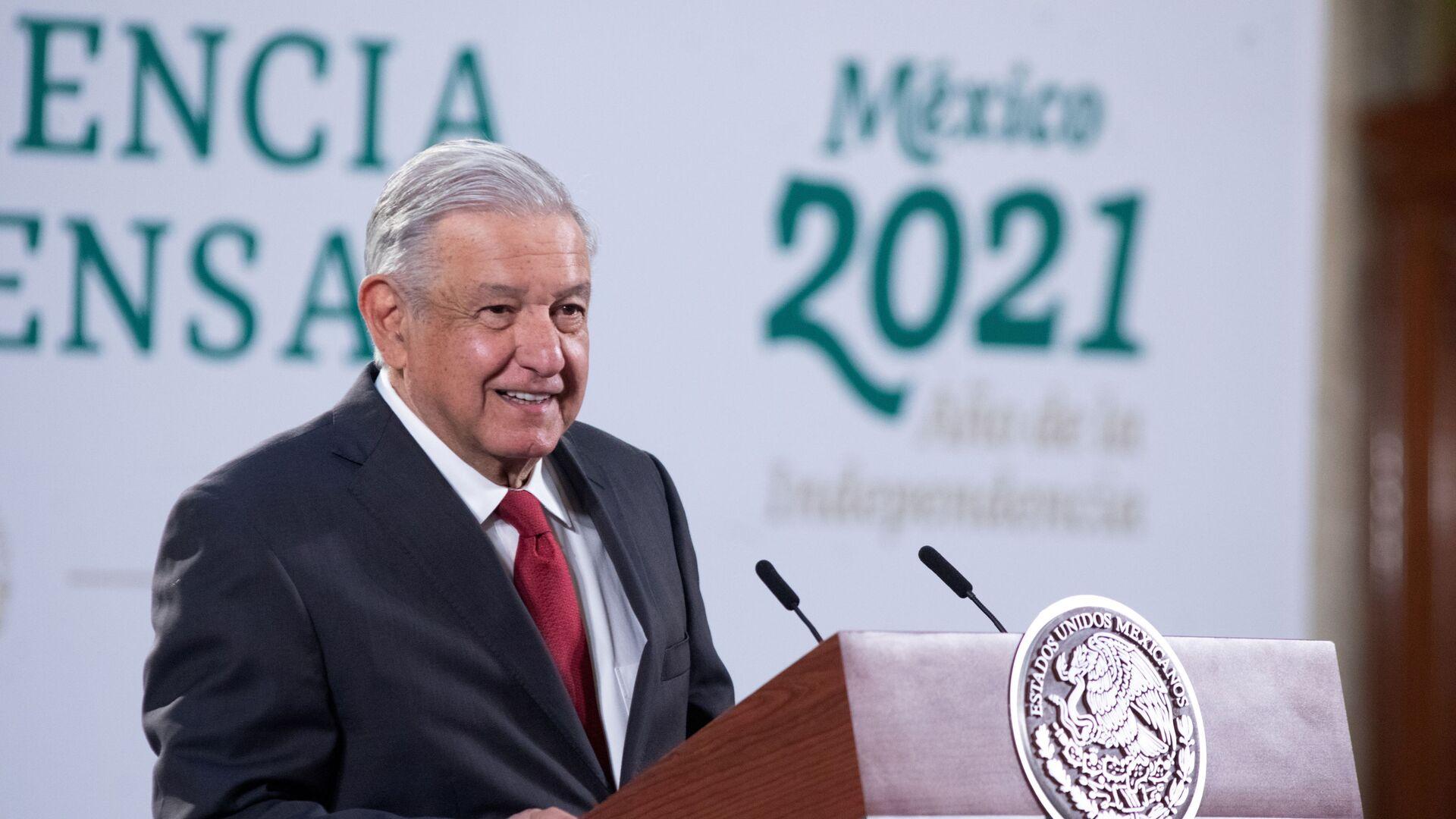 Andrés Manuel López Obrador, presidente mexicano - Sputnik Mundo, 1920, 22.02.2021