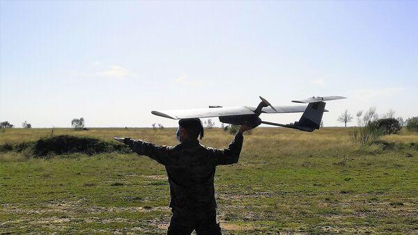 Personal del Ejército y la Armada española probando el RPAS Seeker - Sputnik Mundo