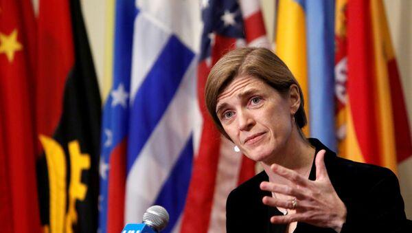 Samantha Power, la ex representante permanente de EEUU ante la ONU - Sputnik Mundo