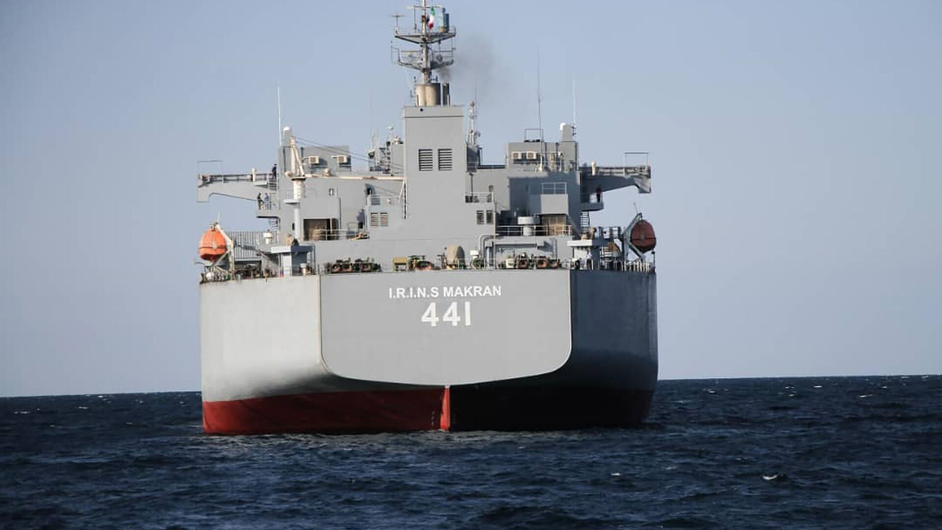 El buque de guerra de fabricación iraní Makran - Sputnik Mundo, 1920, 31.05.2021