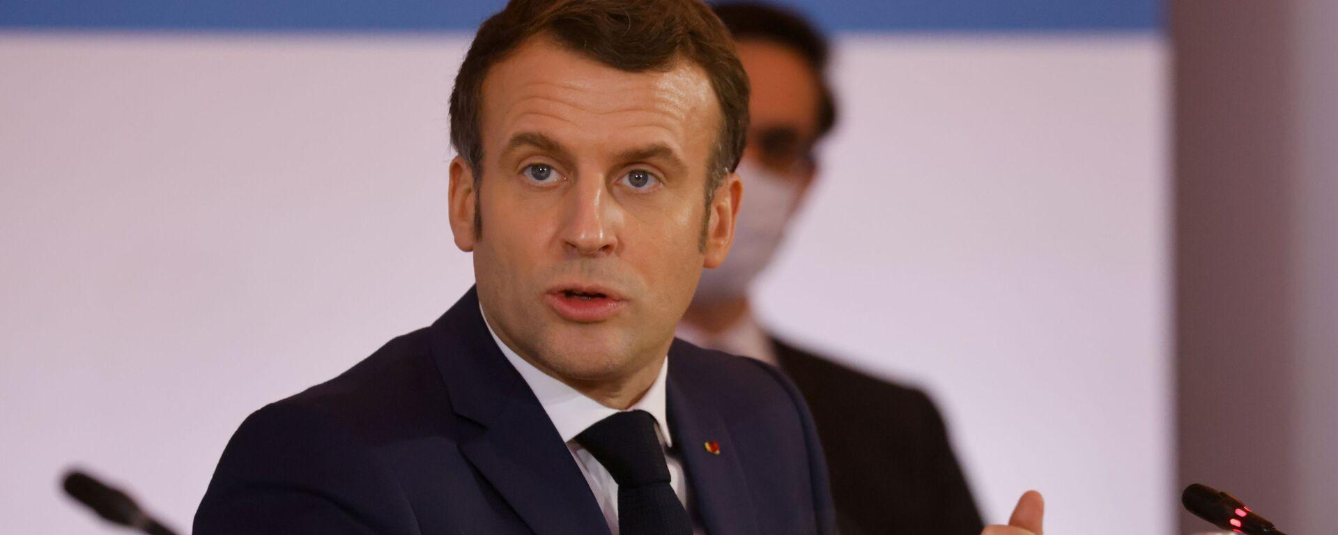 Emmanuel Macron, el presidente de Francia - Sputnik Mundo, 1920, 08.06.2021