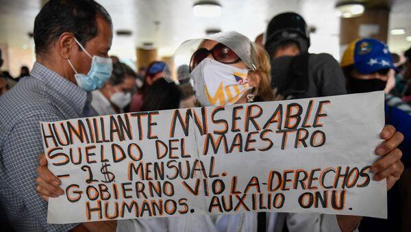 Protestas de docentes en Venezuela - Sputnik Mundo